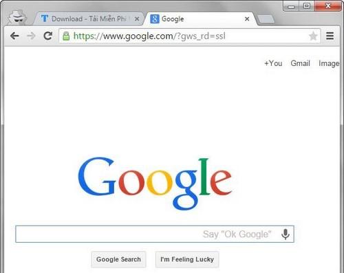 Tìm kiếm trên google.com thay vì google.com.vn