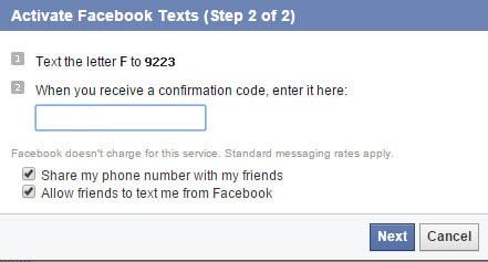 ma xac nhan facebook