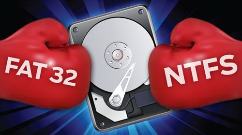 fat32 hay ntfs cho usb ổ cứng thiết bị lưu trữ