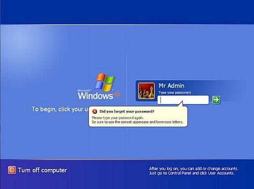 Cách phá password máy tính Win 7, XP 0