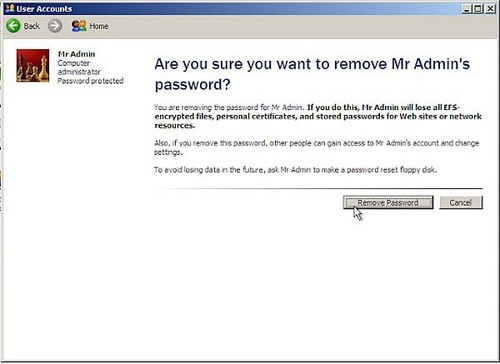 Windows 7 Ultimate Password Reset