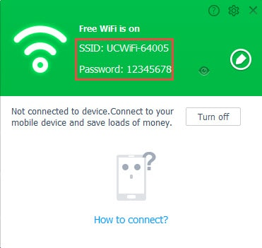 Create a WiFi hotspot on your computer by UC Browser