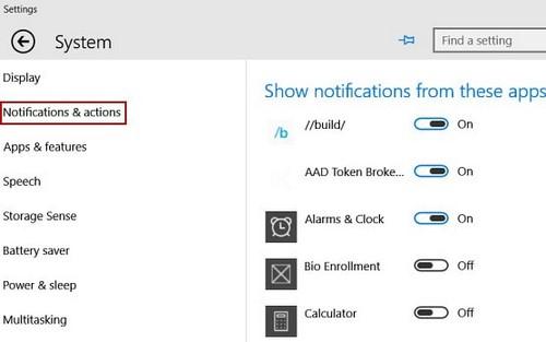 Tắt thông báo trên khay hệ thống Windows 10 3
