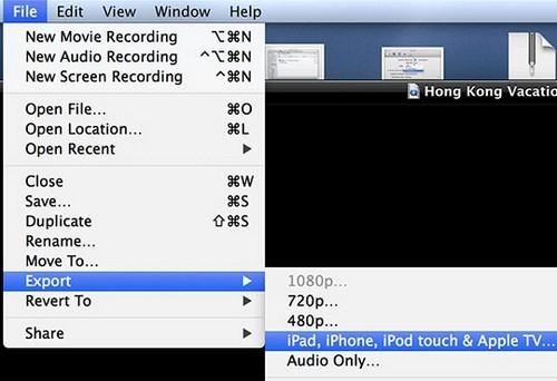 doi video bang quicktime tren may mac