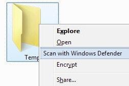 Add windows defender to the fade menu