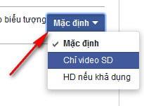 cai dat video mac dinh facebook