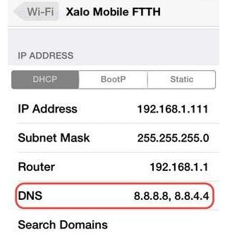 doi dns de vao facebook bi chan tren iphone