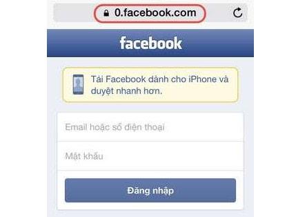 cach vao facebook tren ios