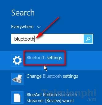 Bật, tắt Bluetooth trên Windows 8.1 2