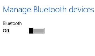 Bật, tắt Bluetooth trên Windows 8.1 3