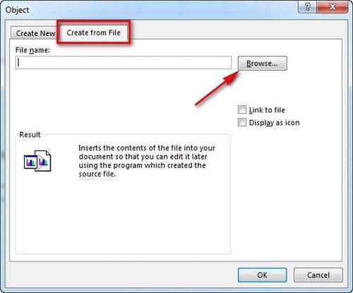 Cách đính kèm file vào Excel 2013, 2010, 2007 3