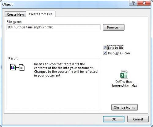 Cách đính kèm file vào Excel 2013, 2010, 2007 4