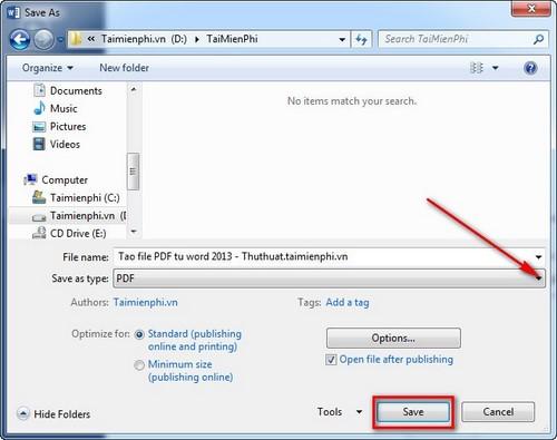 Cách tạo file PDF trên máy tính từ Word, trực tuyến 6