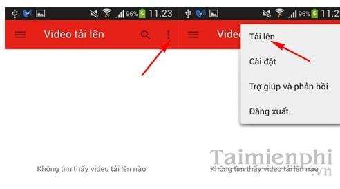 huong dan cach uplpad video len youtube bang dien thoai android