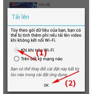 Upload Video lên YouTube trên các thiết bị Android