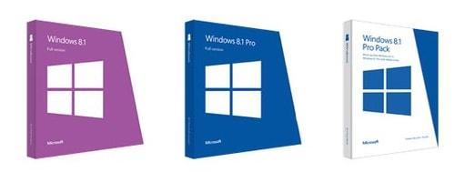 su khac nhau giua cac phien ban windows 8.1