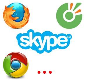 su dung skype tren trinh duyet web