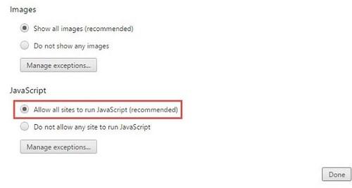 Cách bật javascript trình duyệt web Google chrome, firefox, IE, Safari...