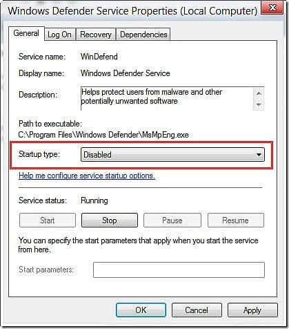 Cách bật/tắt Windows Defender win 8 8.1 3