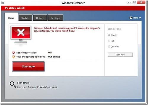 Cách bật/tắt Windows Defender win 8 8.1 4