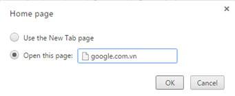 Đặt Google.com.vn làm trang chủ trên trình duyệt Google Chrome