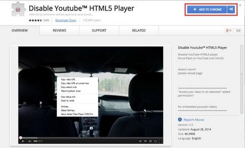 Tắt HTML5 youtube, vô hiệu hóa HTML5 trên Youtube