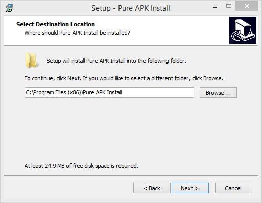 Cài file apk trên điện thoại Android từ máy tính bằng Pure APK Install