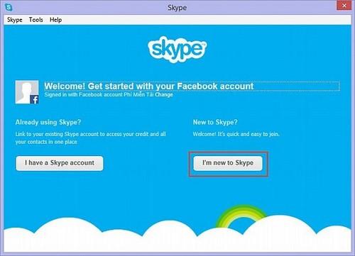 Đăng nhập skype bằng facebook, vào skype gọi điện bằng Facebook