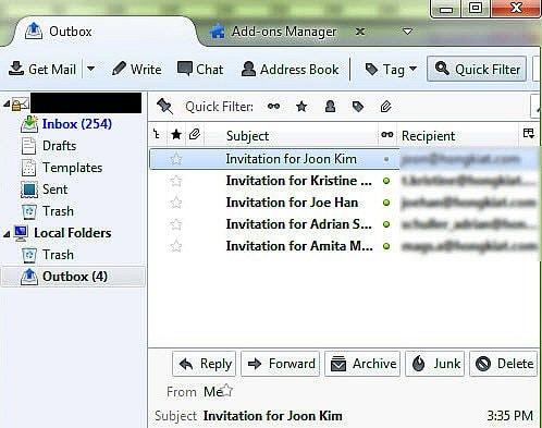 Gửi email hàng loạt bằng Mozilla Thunderbird miễn phí