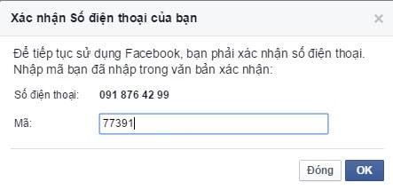 Cách lập Facebook bằng số điện thoại, tạo tài khoản Facebook từ số điện thoại 3