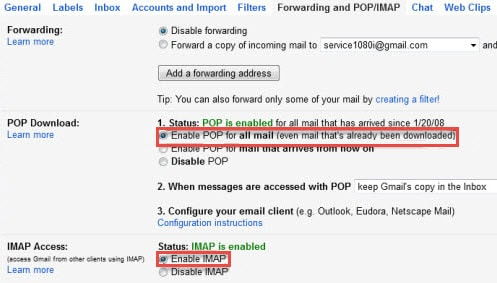 quan ly yahoo mail gmail hotmail bang outlook 2013
