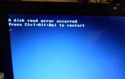 sua loi A disk read error occurred. Press ctrl alt del to restart windows XP 7, A disk read error occurred