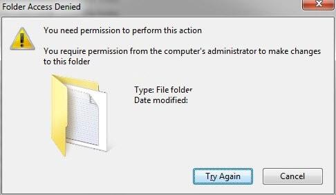 sua loi You'll need to provide administrator permission to delete this folder