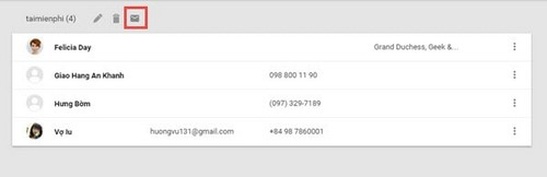 Gửi mail hàng loạt bằng cách tạo danh sách Gmail list contact