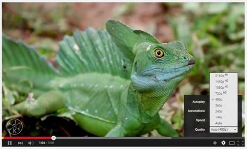 Đổi tốc độ và chất lượng video trên Youtube