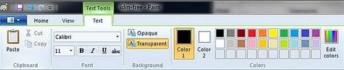 Cách thêm chữ vào ảnh trong paint win 7 8 8.1 đơn giản
