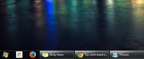 Cách thu nhỏ icon trên thanh trạng thái Taskbar win 7 XP