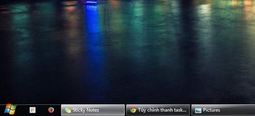 Cách thu nhỏ icon trên thanh trạng thái Taskbar win 7 XP 3