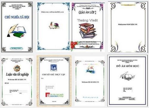 Tổng hợp mẫu bìa word 2013, 2007, 2010, 2003