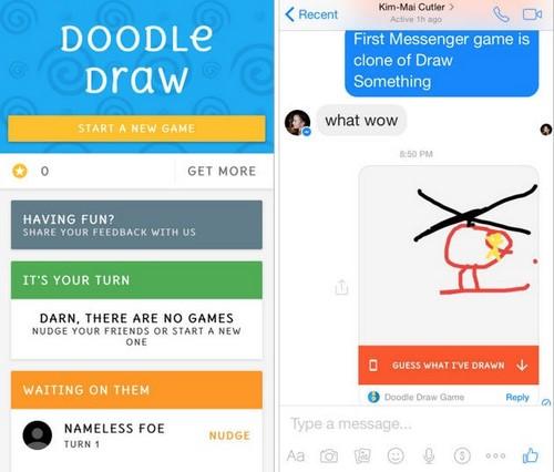 Doodle Draw - Game đầu tiên trên Facebook Messenger