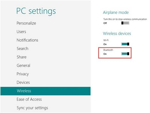 Cách cài Bluetooth trên laptop windows 8