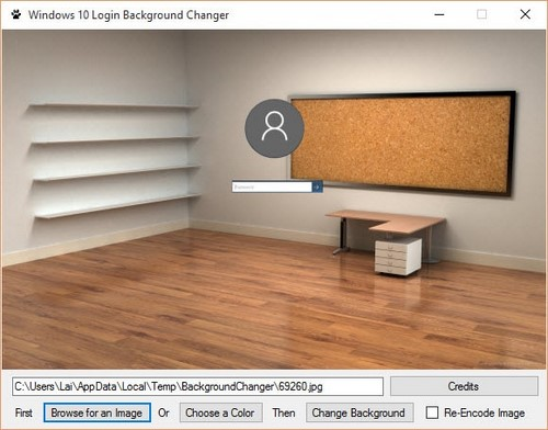 how to change windows login screen