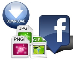 cach download album anh tren facebook