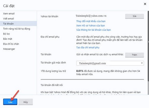 yahoo mail forwarding