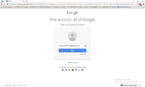 Cách đăng nhập Gmail nhiều tài khoản trên một máy tính
