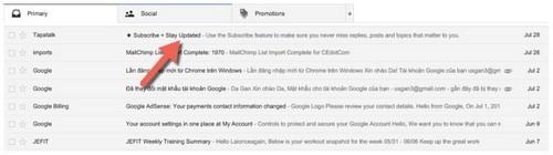 Cách mở email, đọc mail bằng Gmail trong inbox