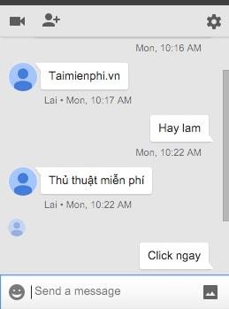 Chat trên gmail, nhắn tin qua Gmail
