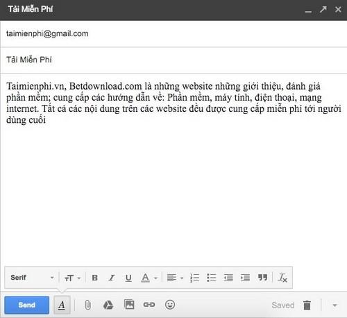 doi font chu gmail