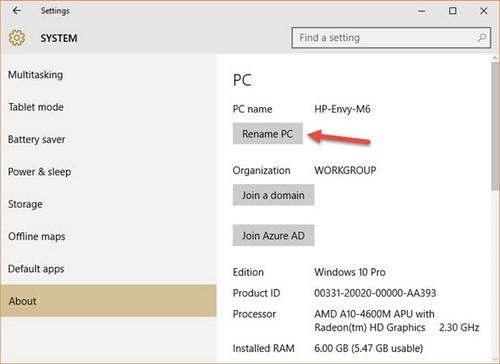 Đổi tên máy tính Windows 10, thay PC Name trên Windows 10 2