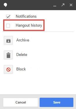Hướng dẫn không lưu nội dung chat trên Gmail